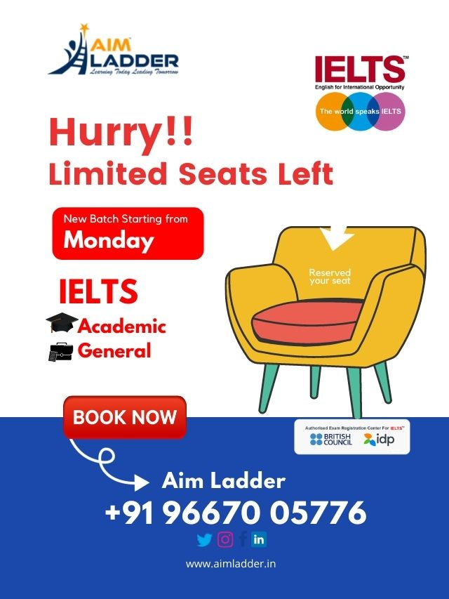 IELTS Coaching with Aim Ladder-Poster